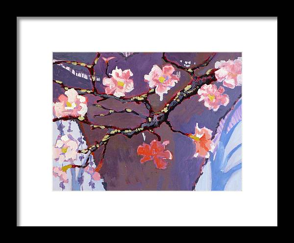 Blossom Framed Print featuring the painting Forest In Bloom by Robert Bissett