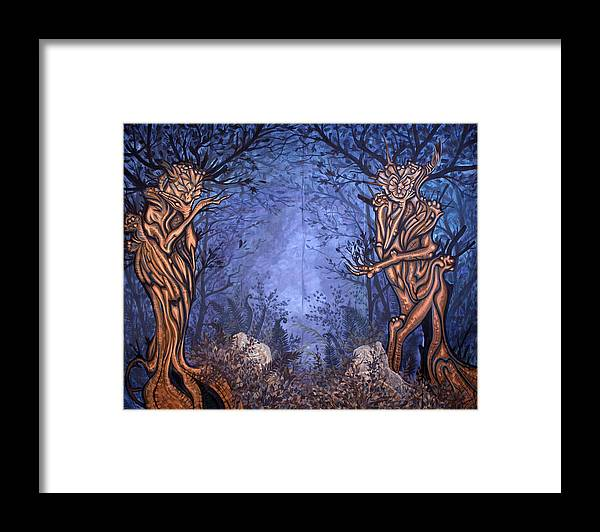 Mystic Framed Print featuring the painting Forest by Judy Henninger