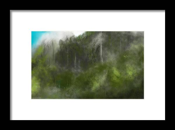 Digital Art Framed Print featuring the digital art Forest Landscape 10-31-09 by David Lane