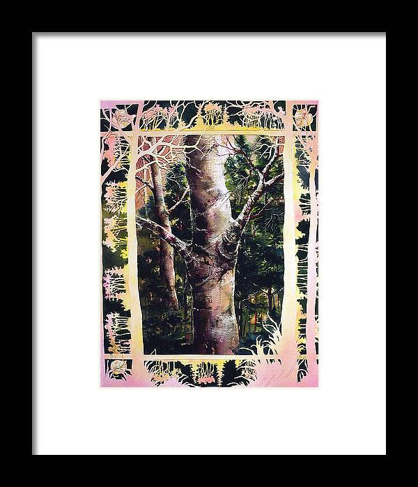 Forest Framed Print featuring the painting Forest Light by Connie Williams