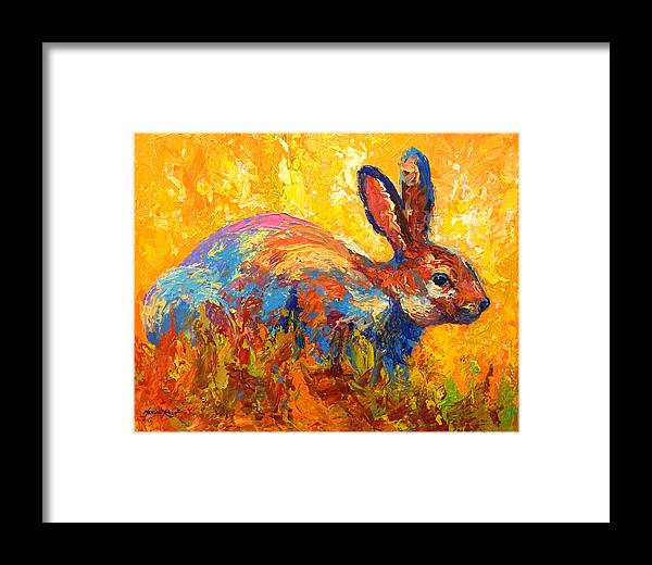 Rabbit Framed Print featuring the painting Forest Rabbit II by Marion Rose