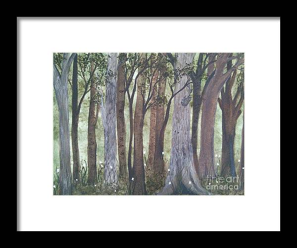 Forest Framed Print featuring the painting Forest Spring by Susan Nielsen