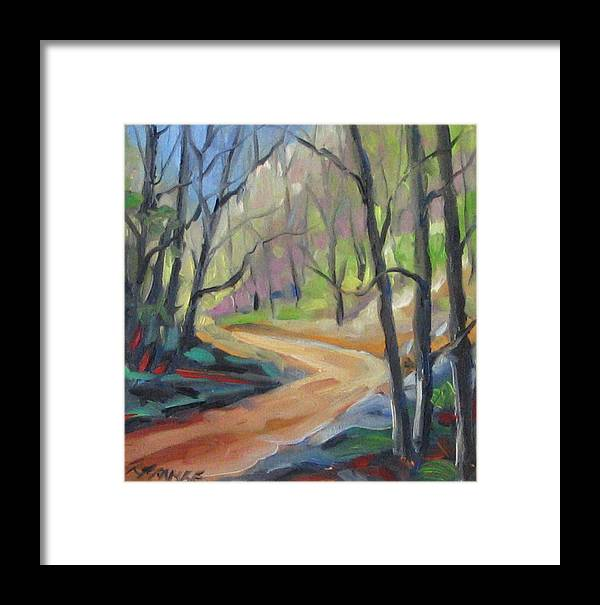 Art Framed Print featuring the painting Forest Way by Richard T Pranke