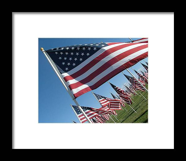 Flag Framed Print featuring the photograph Forever Flags by Dawn Blair