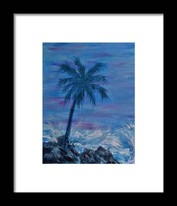 Palm Trees Framed Print featuring the painting Forever by Karen Lee
