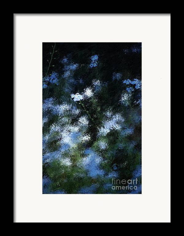 Abstract Framed Print featuring the digital art Forget Me Not by David Lane