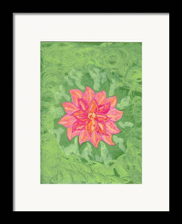 Flower Framed Print featuring the painting Forget Me Not by Laura Lillo