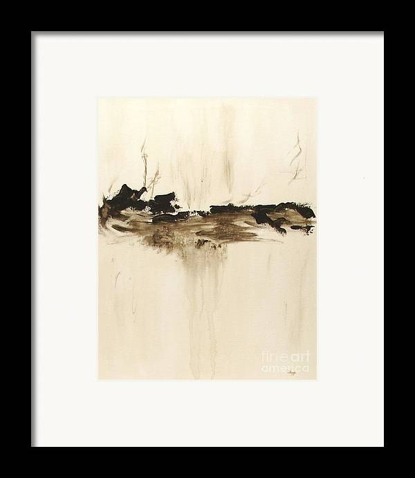 Abstract Framed Print featuring the painting Forgotten  by Itaya Lightbourne