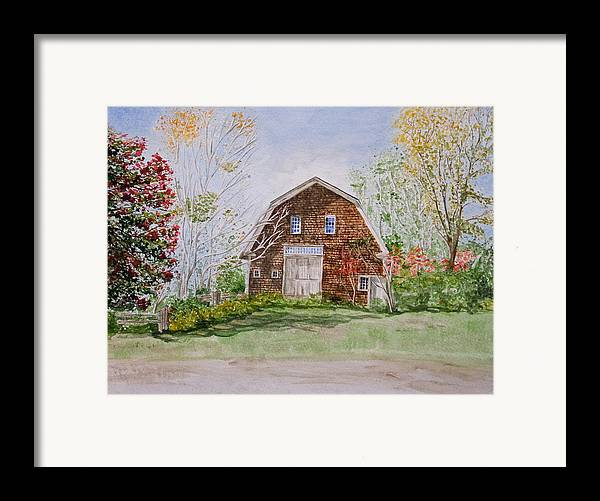 Landscape Framed Print featuring the painting Forgotten Beauty by Monika Degan