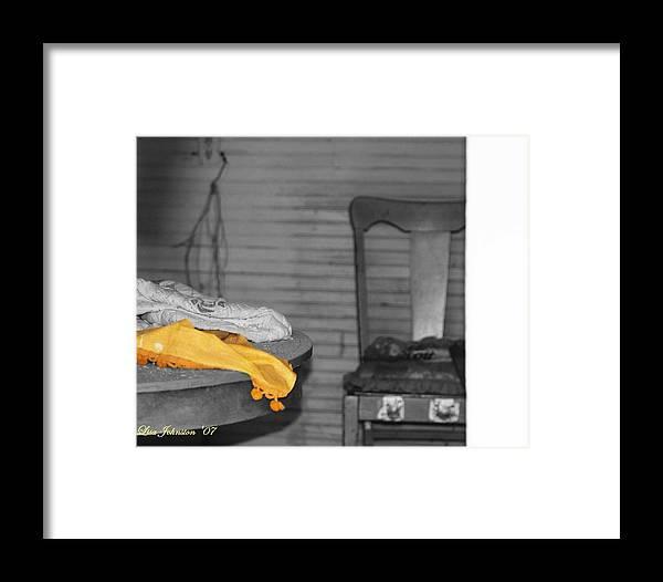 Blanket Framed Print featuring the photograph Forgotten Blanket by Lisa Johnston
