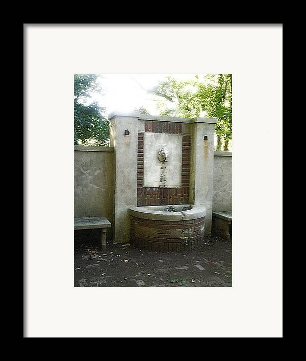 Fountain Framed Print featuring the photograph Forgotten Fountain by Scarlett Royal