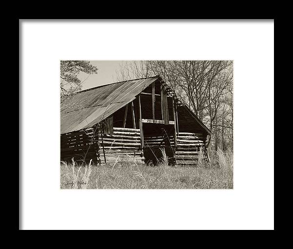 Black And White Framed Print featuring the photograph Forgotten Hay Barn by Judy Waller