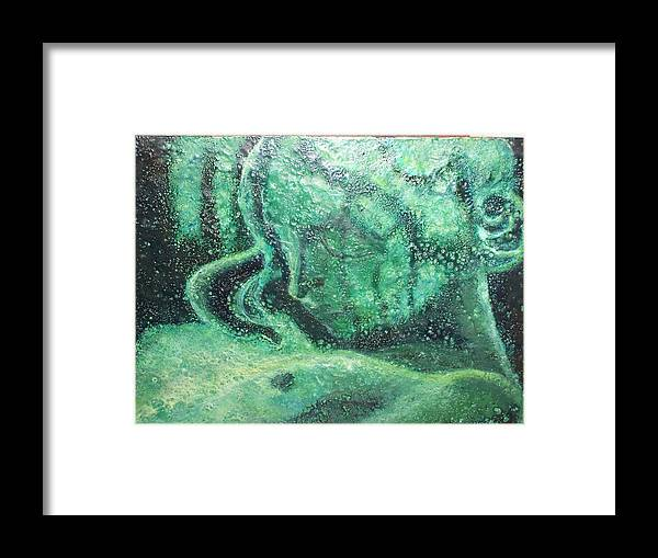 Woman Framed Print featuring the painting Forgotten by Karla Phlypo-Price