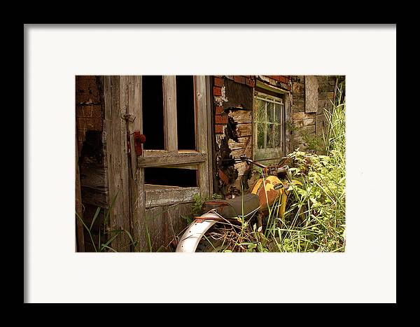 Old Buildings Framed Print featuring the photograph Forgotten by Linda McRae