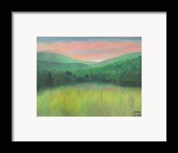 Landscape Framed Print featuring the painting Forgotten Meadow by Laurel Ellis