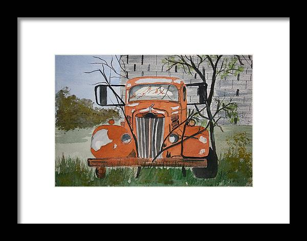 Truck Framed Print featuring the painting Forgotten by Michele Turney