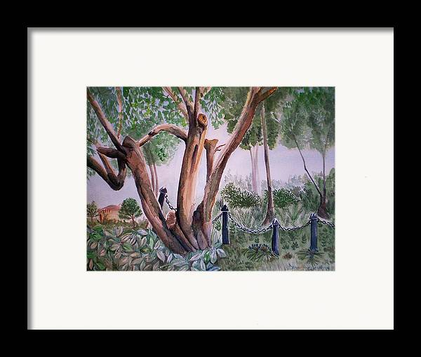 Forgotten Framed Print featuring the painting Forgotten Past by Donna Gonzalez