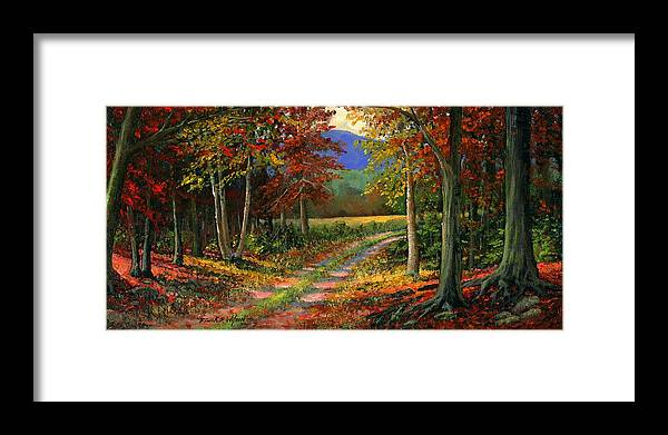 Landscape Framed Print featuring the painting Forgotten Road by Frank Wilson