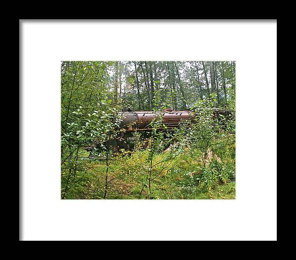 Train Framed Print featuring the photograph Forgotten Train Engine by Robert Joseph