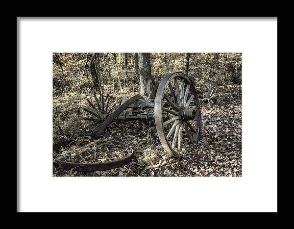 Wheel Framed Print featuring the photograph Forgotten Wagon by Tom Mc Nemar