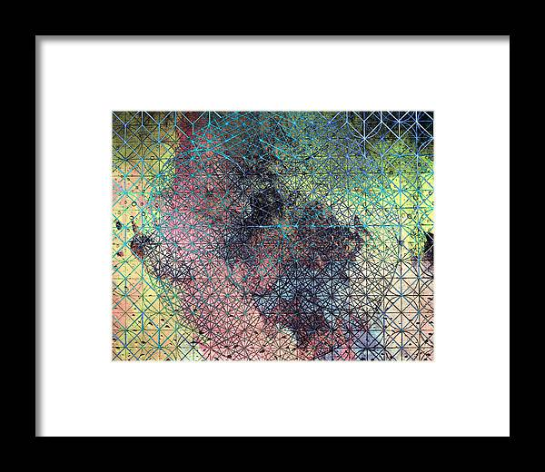 Sacred Geometry Framed Print featuring the digital art Form Emerging by Dorothy Berry-Lound