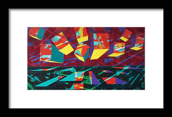 Geometric Framed Print featuring the painting Form Goes With Void by Rollin Kocsis