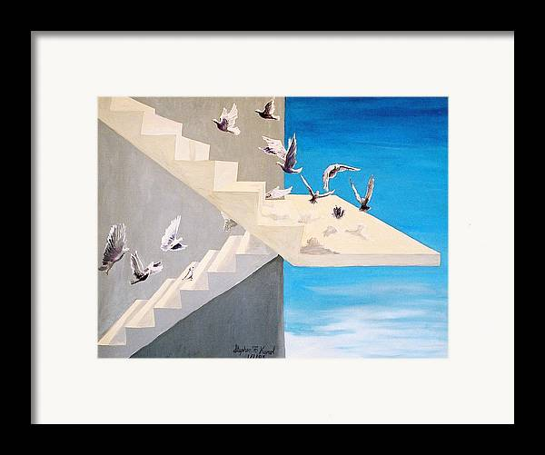 Birds Framed Print featuring the painting Form Without Function by Steve Karol