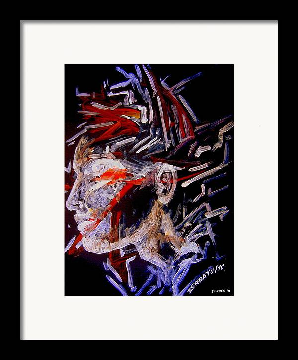 Face Framed Print featuring the digital art Forming Opinions by Paulo Zerbato