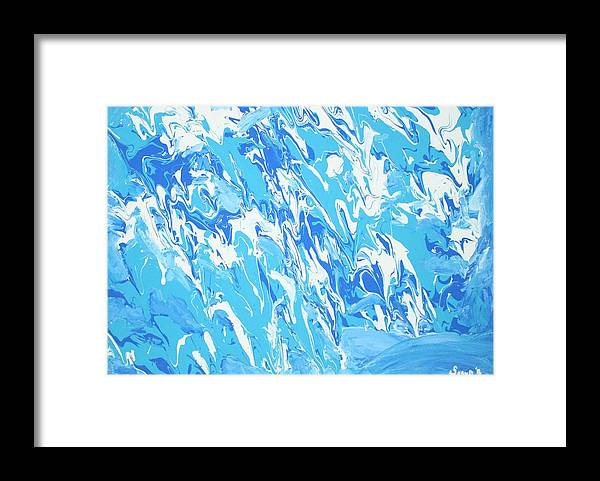 Water Framed Print featuring the painting Formless Collection edition 1 by Sonye Locksmith
