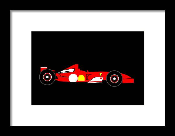 Ferrari Framed Print featuring the digital art Formula One Ferrari by Asbjorn Lonvig