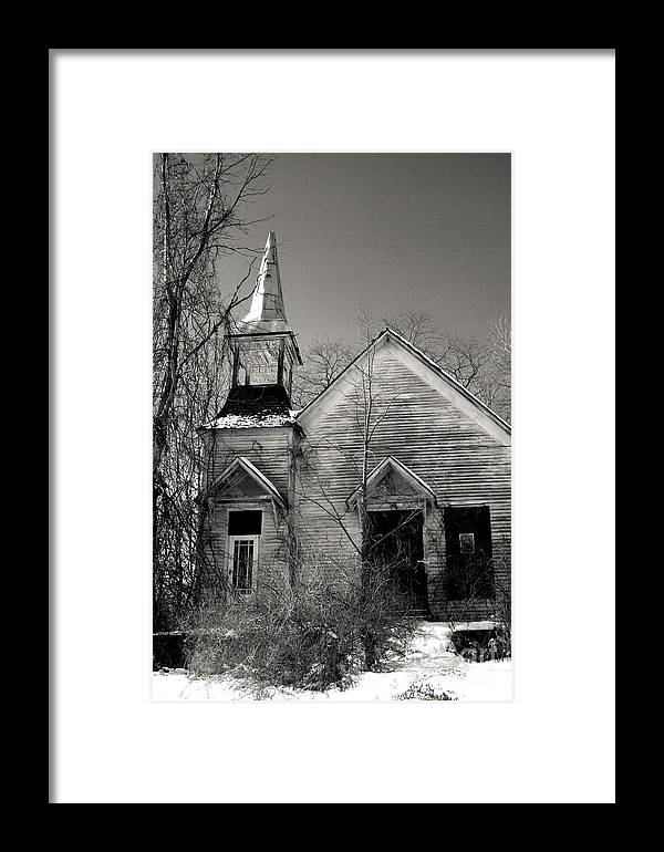 Church Framed Print featuring the photograph Forsaken by Debra Straub