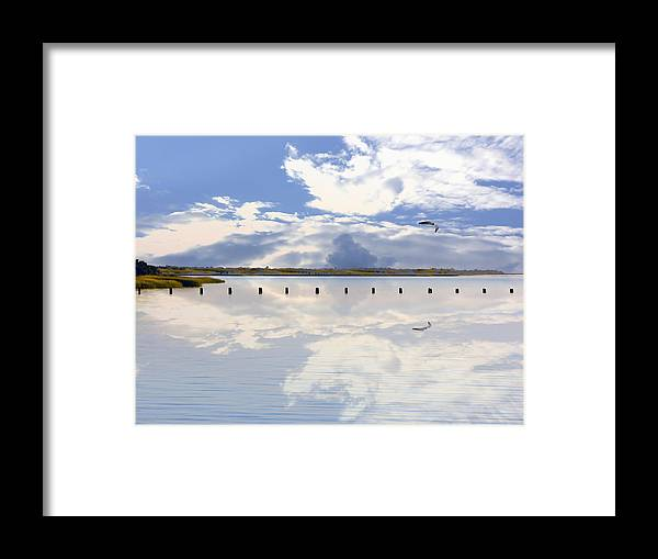 Cape Fear River Framed Print featuring the photograph Fort Fisher Reflection by Paul Boroznoff