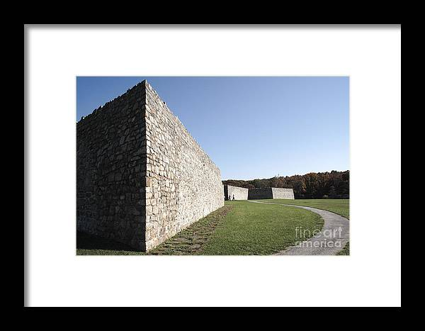 Colonial Framed Print featuring the photograph Fort Frederick In Maryland by William Kuta