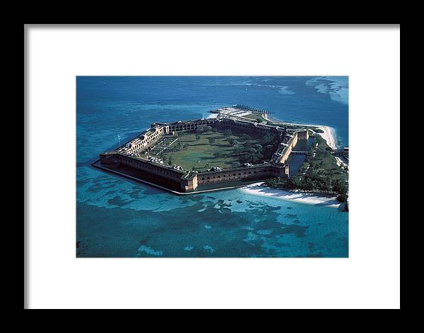 Fort Framed Print featuring the photograph Fort Jefferson by Carl Purcell