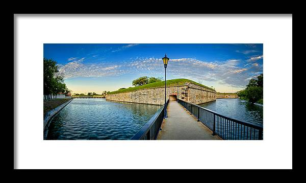 Fort Monroe Framed Print featuring the photograph Fort Monroe by Williams-Cairns Photography LLC
