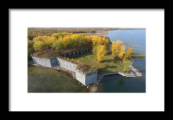 Fort Framed Print featuring the photograph Fort Montgomery Fall by Jedidiah Thone