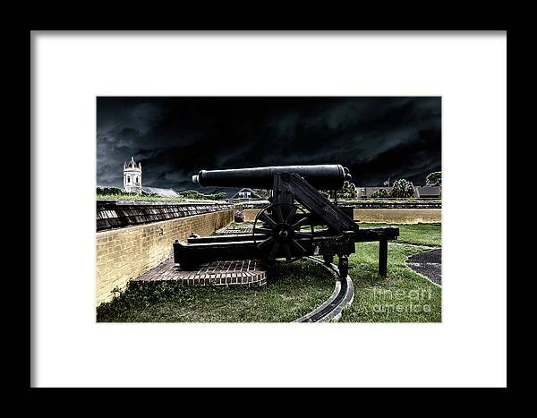 Cannon Framed Print featuring the photograph Fort Moultrie Magic by Dale Powell