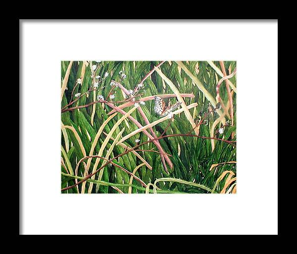 Fort Toulouse Framed Print featuring the painting Fort Toulouse Butterfly by Beth Parrish