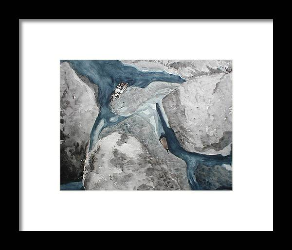 King Snake Framed Print featuring the painting Fort Toulouse King Snake by Beth Parrish