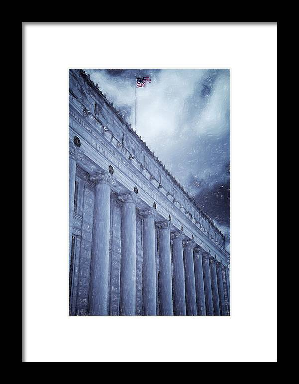 Joan Carroll Framed Print featuring the photograph Fort Worth Impressions Post Office by Joan Carroll