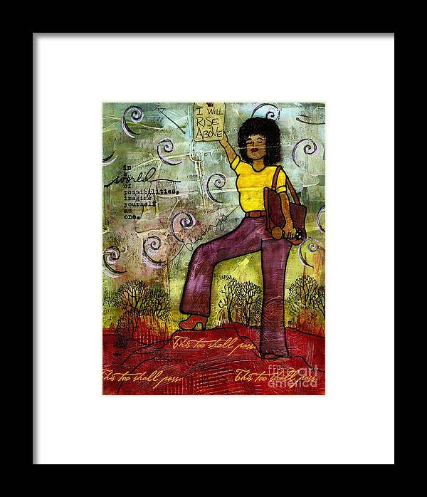 Acrylic Framed Print featuring the painting Fortitude by Angela L Walker