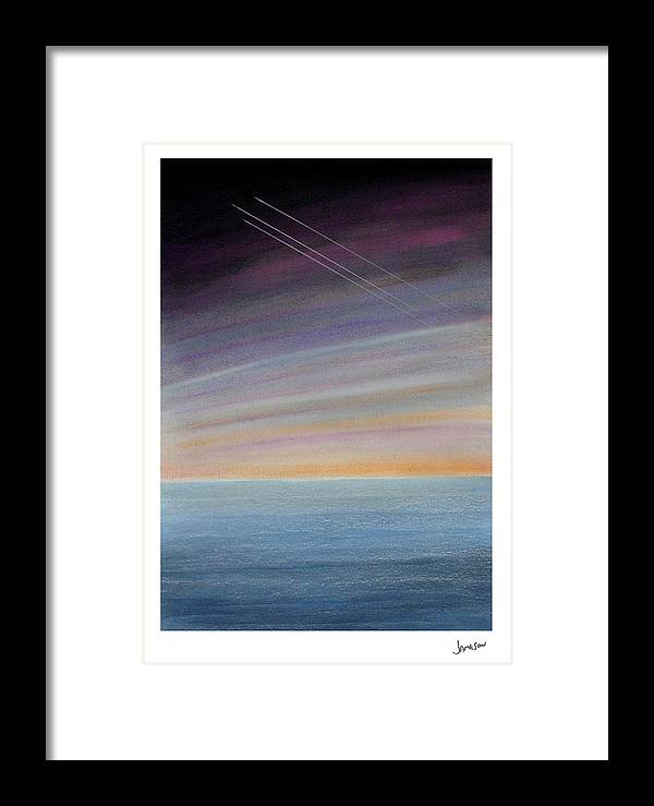 Water Framed Print featuring the painting Fortitude Missing Man Formation by Gary Jameson