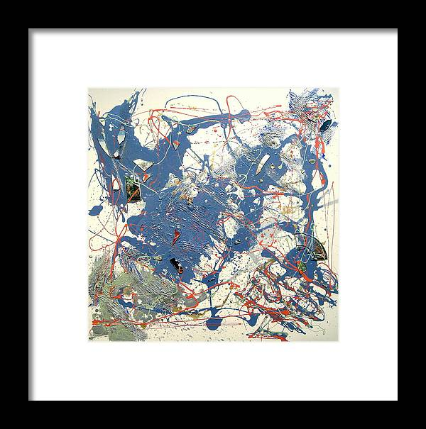 Abstract Framed Print featuring the painting Fortitudo by Irma Hinghofer-Szalkay