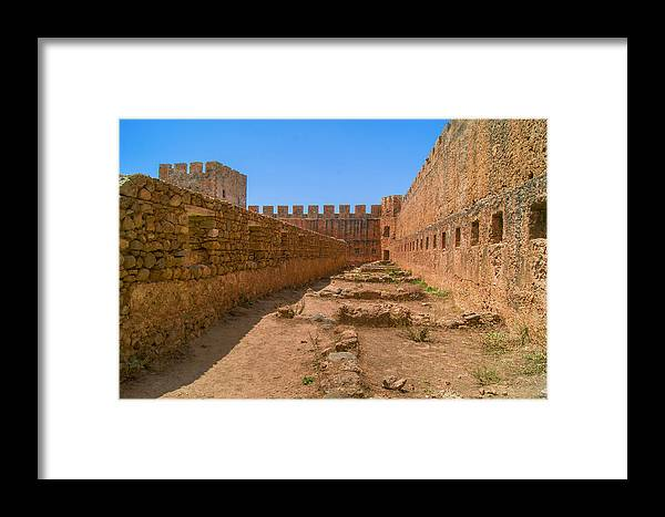 Frangokastello Framed Print featuring the photograph Fortress In Frangokastello by Sun Travels