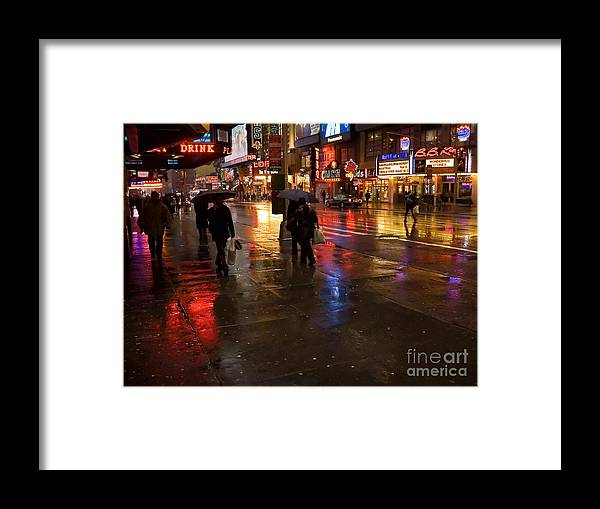 Cityscape Framed Print featuring the photograph Forty Second St. by Andrew Kazmierski