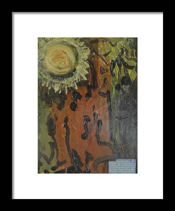 Faith Framed Print featuring the painting Forty Years In The Desert by Lisa Graham