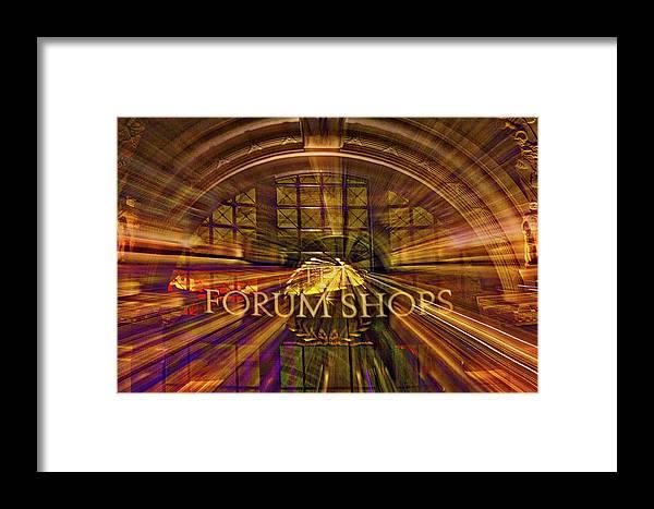 Las Vegas Framed Print featuring the photograph Forum Shops - Las Vegas by Stuart Litoff