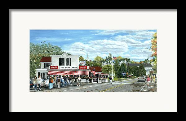Door County Framed Print featuring the painting Fountain Of Youth by Doug Kreuger