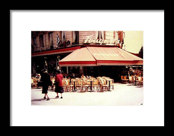 1955 Framed Print featuring the photograph Fouquets Of Paris 1955 by Will Borden