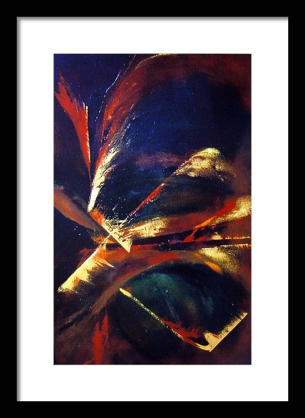 Abstract Painting Framed Print featuring the painting Four Directions by Zoe Landria